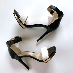 Mossimo Black White Gold Vinta Platform Sandal